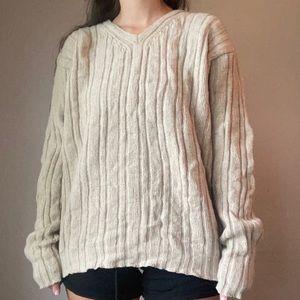 J. Crew Cream Lambswool Knit Sweater